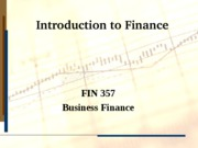Intro to Finance (NT)Fall 2011