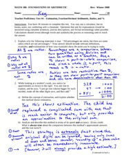 Proficiency Test 4 Solution on Estimation, algorithms for computing with fractions & decimals, ratio