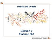Section 09. Trades and Orders