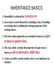 Lect-7 INHERITANCE BASICS.ppt