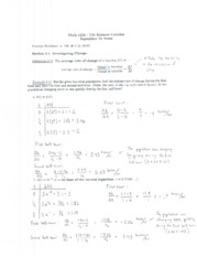 Math 1215 Lecture Notes September 13