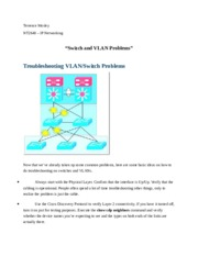 Switch and VLAN Problems.docx