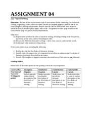 Report Writing Assignment 4