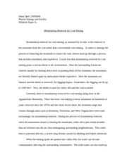 Mountaintop Removal Midterm Paper #2