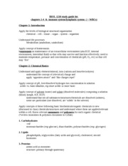 OL 1210 study guide for  chapters 1-4 & immune system/lymphatic system ( + WBCs)