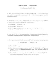 3T03 Assignment 5 Solutions
