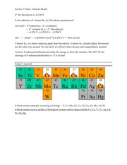 Lecture 5 Notes Natural Metals