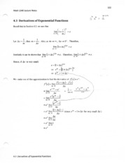4.3 derivatives of exponential functions