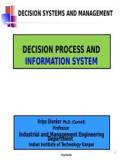 IME611 - 1.4 Decision Process and Information System