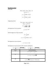 SCE 5201 : Advanced Engineering Mathematics -