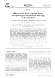 high performance of webs