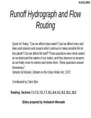 Hydrographs&Routing.ppt