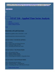 node19 Overview of Lab Exercises   STAT 510 - Applied Time Series Analysis