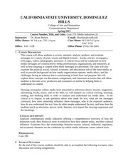 COM 379 - Media Industries Syllabus