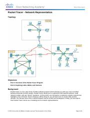 1 2 4 5 packet tracer answer sheet representing the network