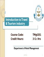 Introduction to Tourism & Travel  1-3.ppt