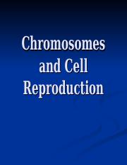 Chromosomes and Cell Reproduction 1-1
