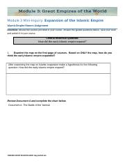 HA3.04.1 Islamic Empire Expansion Honors Assignment.docx