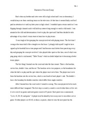 Narrative Process Essay