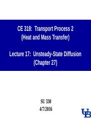 0407 Lecture-17 Unsteady-State diffusion.ppt