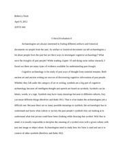 Essay on evidence available for understanding past thought
