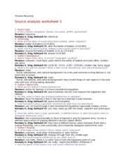 Source analysis worksheet 1 ancient history