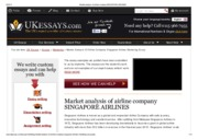 Market analysis of airline company SINGAPORE AIRLINES