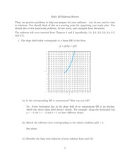 Math 4B Midterm Review SOLUTIONS