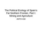 The Political Ecology of Spain's Far Northern Frontier, Part I_D2L