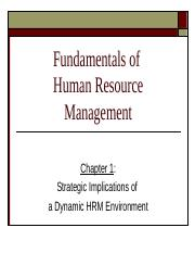 Chapter 1 Strategic Implications of a Dynamic HRM   Environmen.ppt