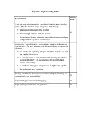 Play Smart Project Grading Rubric.docx