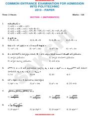 (www.entrance-exam.net)-AP CEEP Polytechnic Entrance Question Sample Paper 1