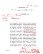 Shaw - The Consequentialist Perspective