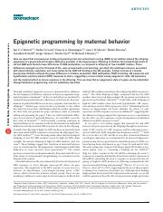 3) Epigenetic programming by maternal behavior.pdf