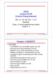 EE40_Fall08_Lecture35-41