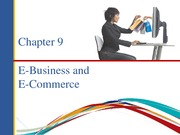 Notes on E business and E Commerce