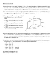 Solutions to Problem set on Chapter 28