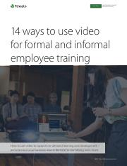 14 Ways to Use Video for Formal and Informal Learning