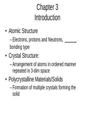Chapter 3 Crystal Structure