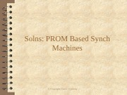Solns PROM Based Synch Machines