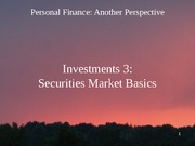 15 Investments 3 - Securities Market Basics 2012-02-27