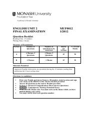 MUF0012 English Unit 2 Question Booklet 1 2012.pdf