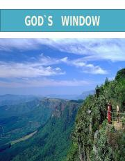 GOD`S WINDOW