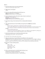 Study Guide & Answers I