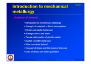 01_Introduction to mechanical metallurgy
