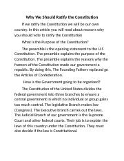 should the constitution be ratified essay