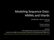 17 Modeling Sequence Data - HMMs and Viterbi