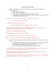 Exam 1 Practice Problems Solution