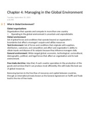 Chapter 4 Managing in the Global Environment-2