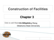Chapter 3 Construction of Facilities